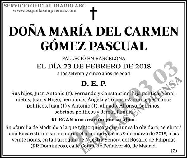 María del Carmen Gómez Pascual
